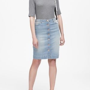 NWT Banana Republic Button Front Denim Skirt 4
